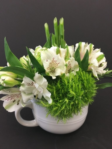 Administrative day, flowers, monochromatic, modern
