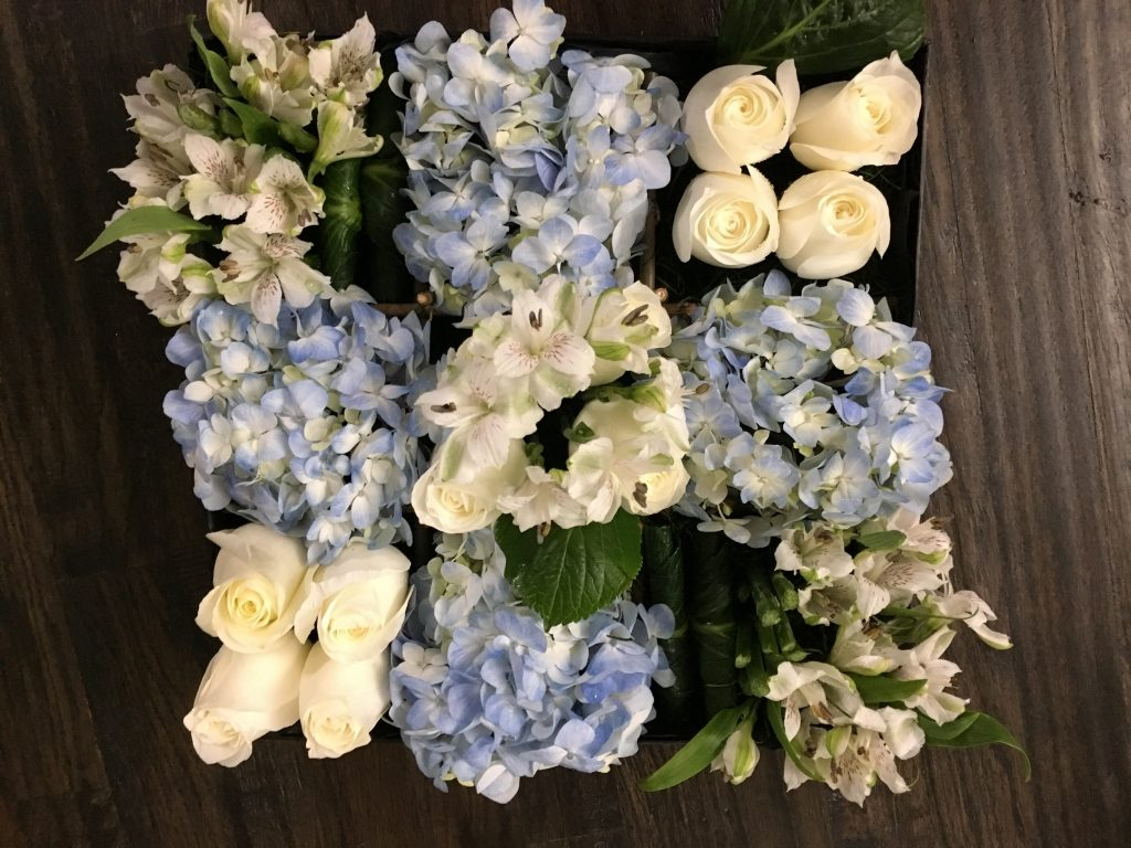 Baby Boy Themed Flowers in a Box