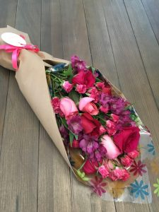 Awesome Pink wrapped bouquet