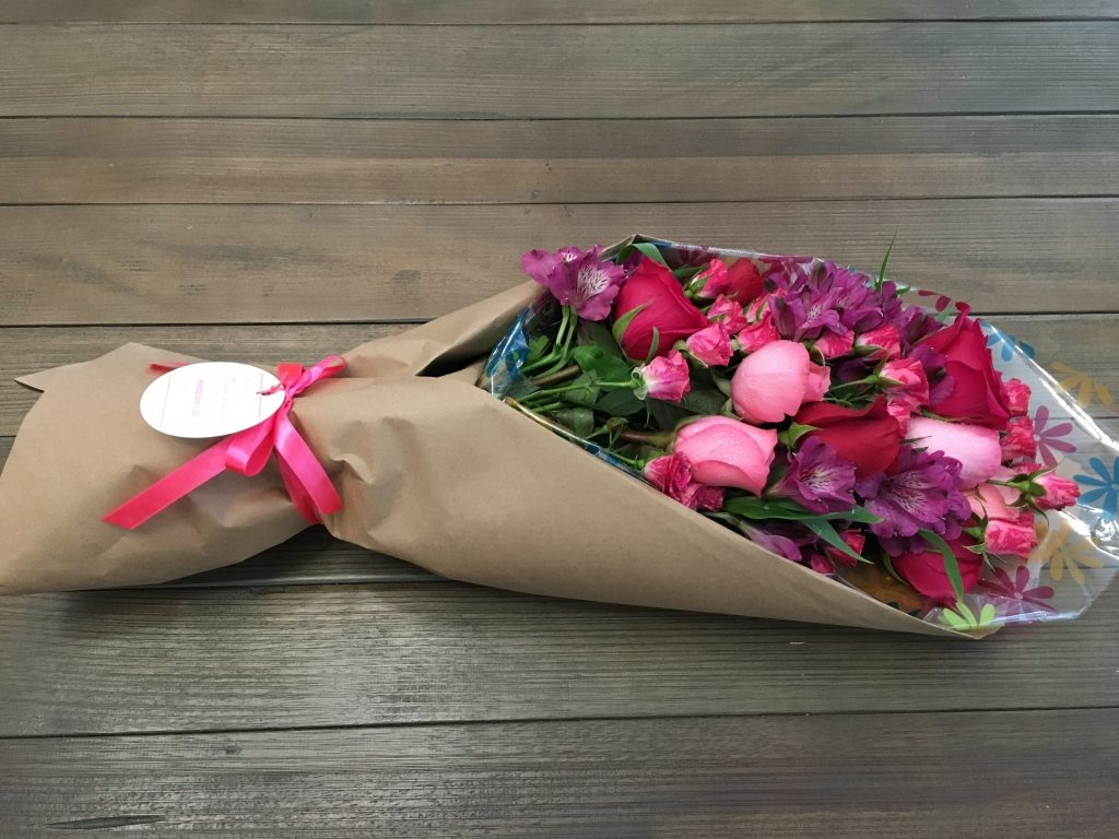 Awesome Pink Wrapped Floral bouquet