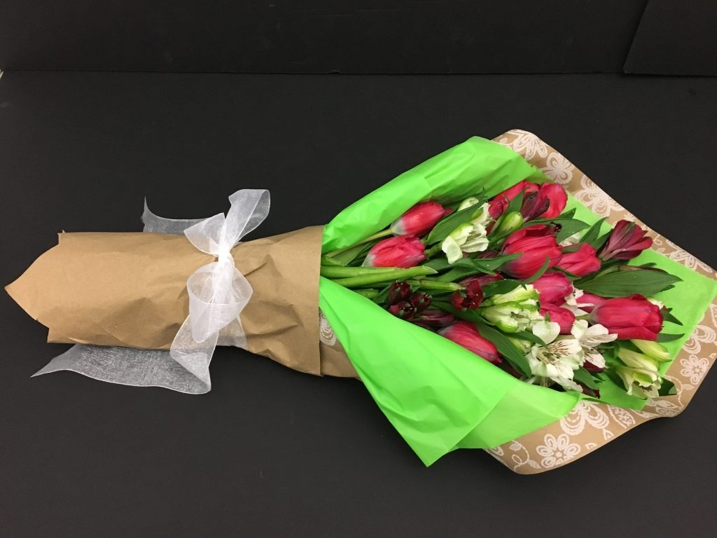 Tulip Wrapped Flower Bouquet
