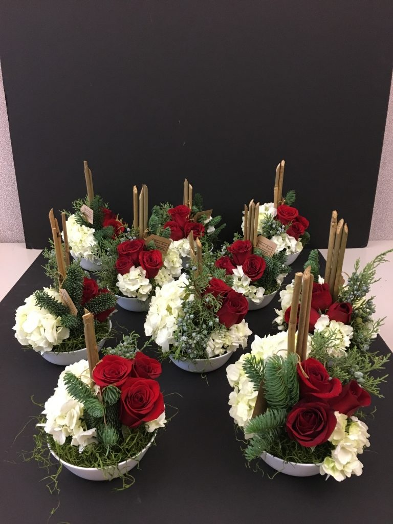 Holiday Floral centerpieces