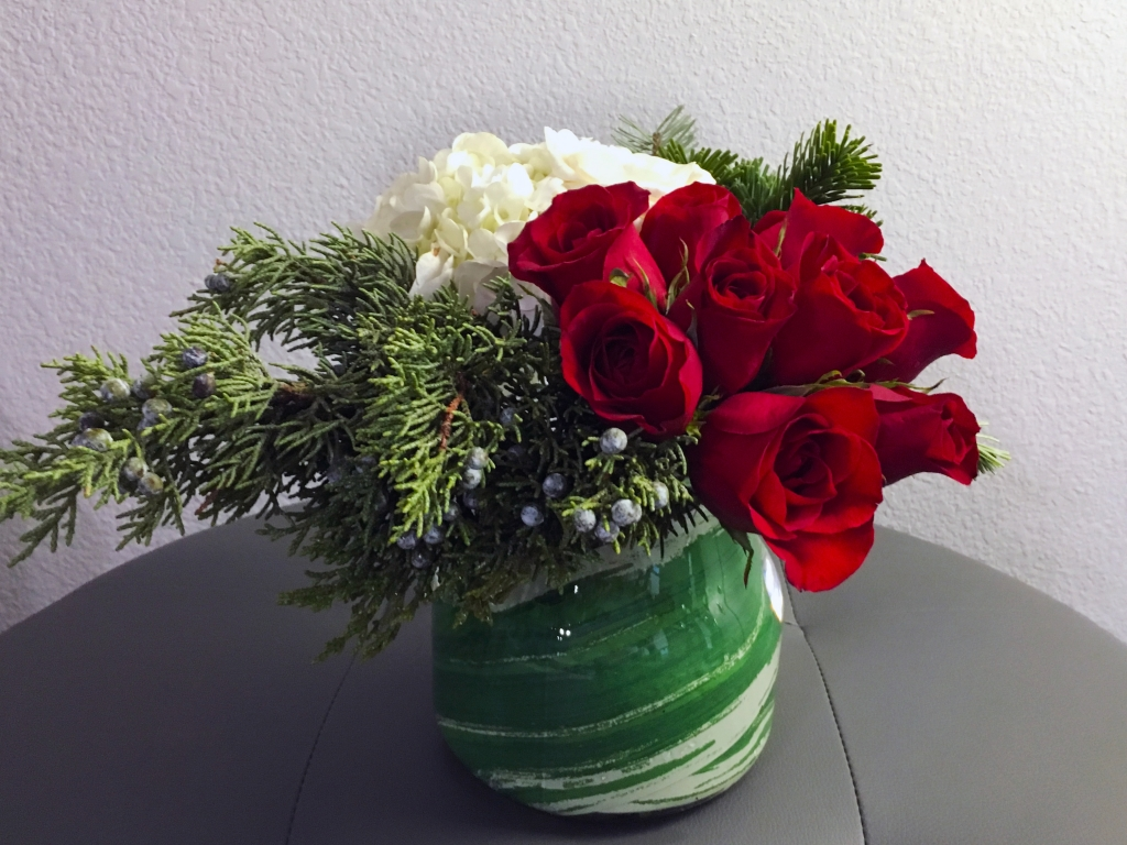 Holiday Florals, Christmas flowers, modern flowers
