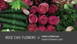 Rose Chic Flowers Business Cards