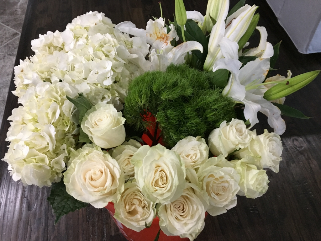 White Winter Florals Rose Chic Flowers