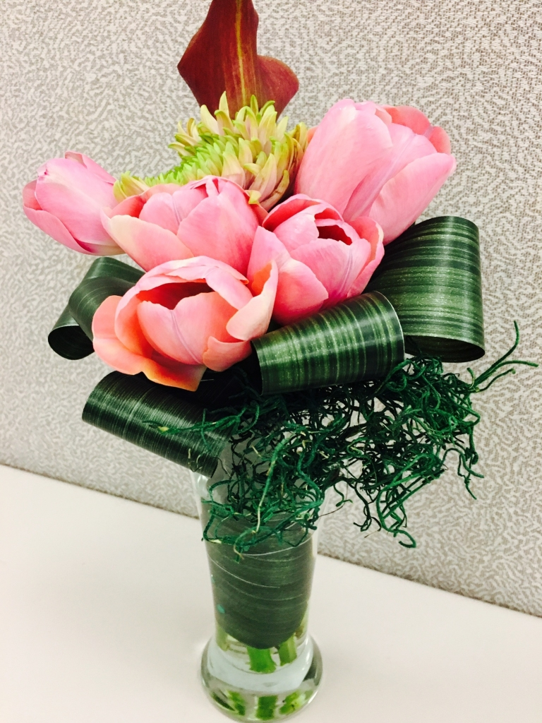 Administrative Day, flowers, modern