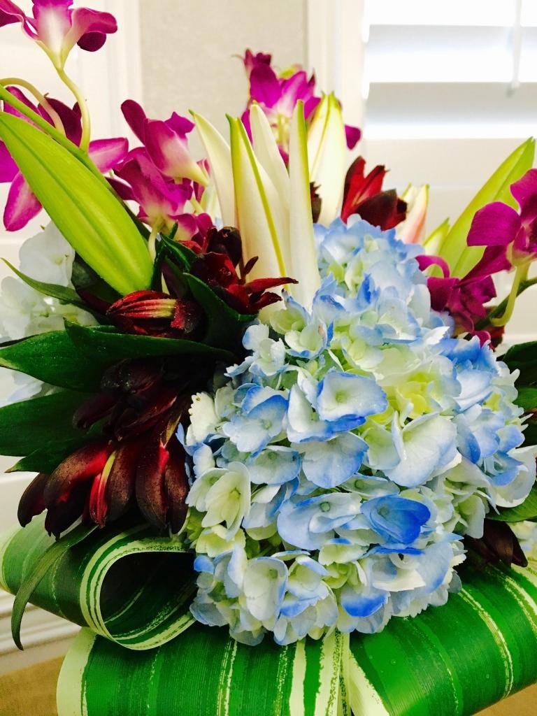 Bold Mother's Day arrangement, modern flowers