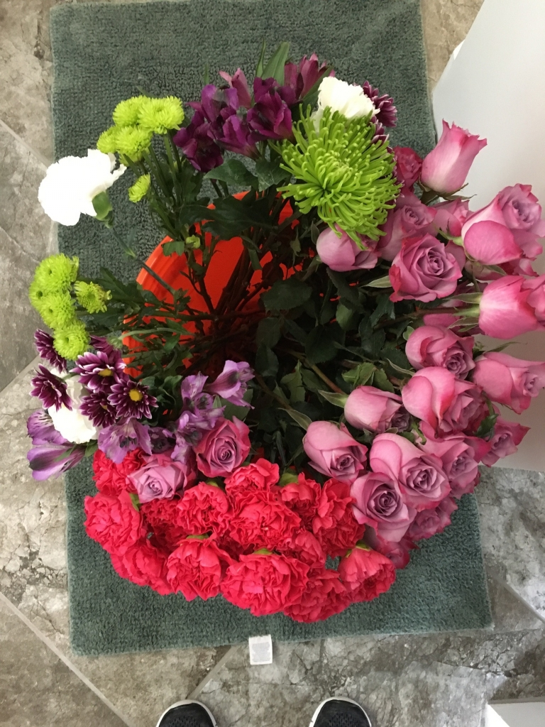 Happy 40th birthday flowers in a box edition rose chic flowers 40th birthday flowers in a box izmirmasajfo