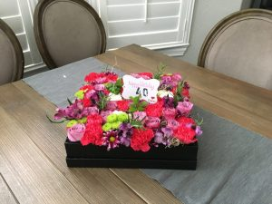 Happy 40th Birthday Flowers In A Box Edition – ROSE CHIC FLOWERS
