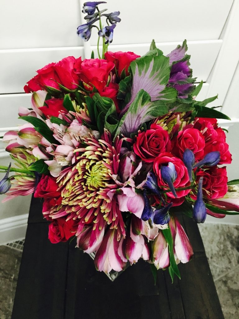 Bold Colored End of Summer Bouquet