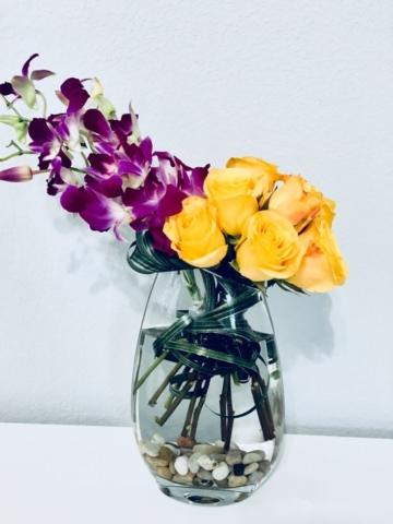 Exotic Tropical Flower Arrangement, modern flowers