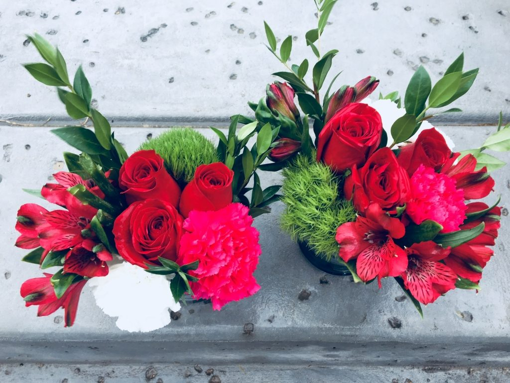 top view-2017 Holiday/Christmas Arrangement#5 & #6