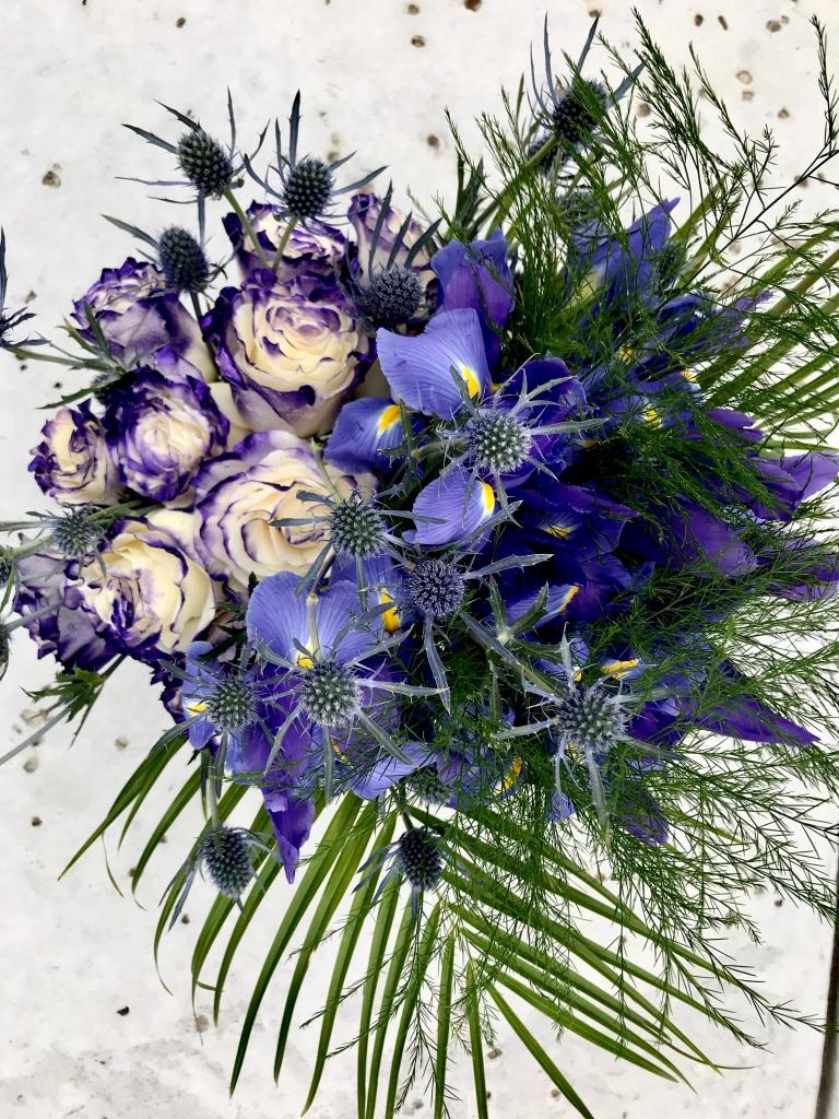 Purple color, flower arrangement