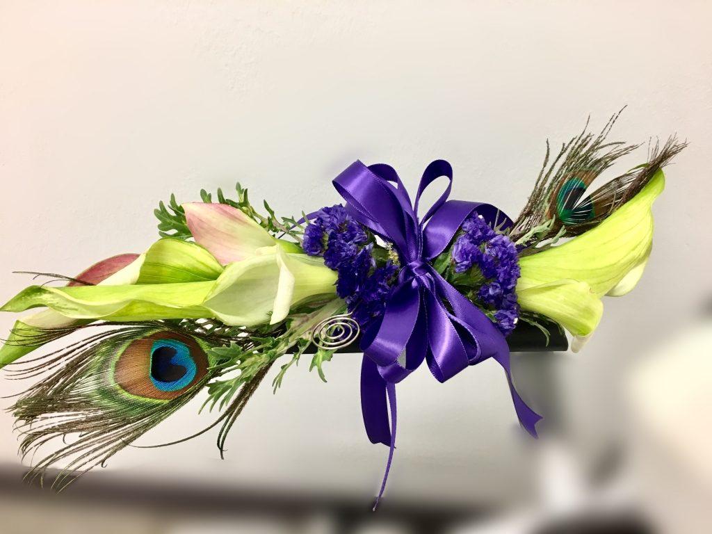 Green Calla Lilies Prom Corsage