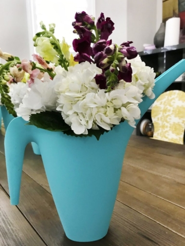 Mother's Day Flowers in a watering can