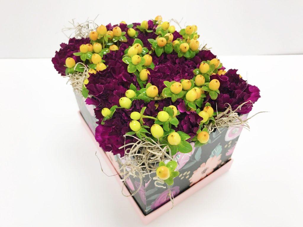 Purple Love Flowers in a Box