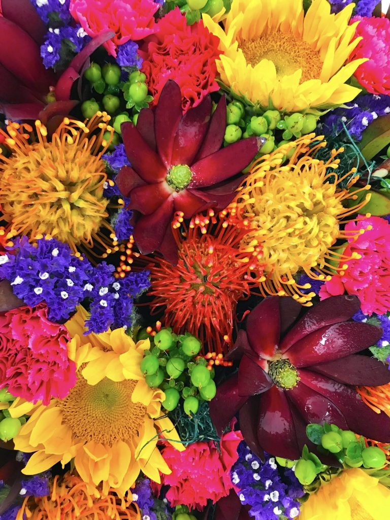 Fall Harvest Flowers in a Box