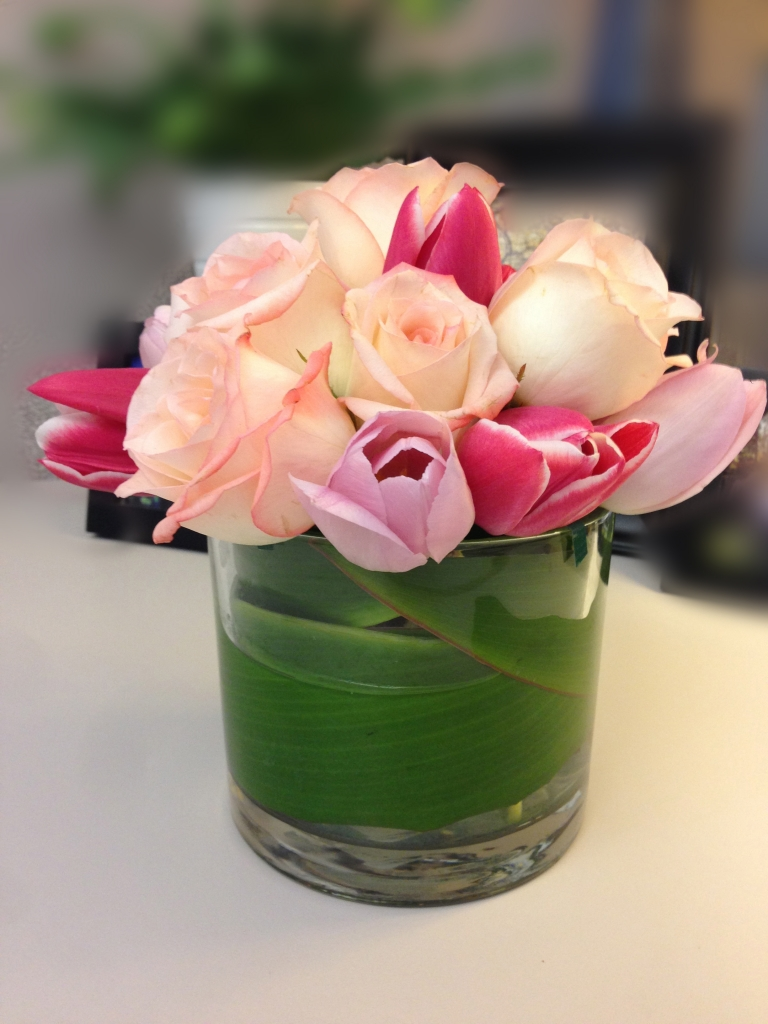 Tulip & Roses, Mother's Day arrangement
