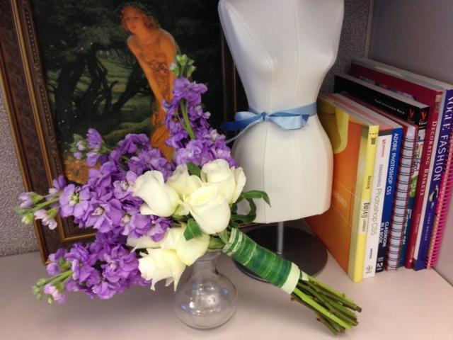 flower bouquet, hand-tied bouquet, modern, cream & lavender