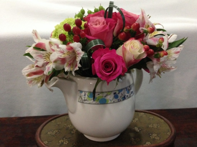 Mother's Day flowers, shabby chic, tea party
