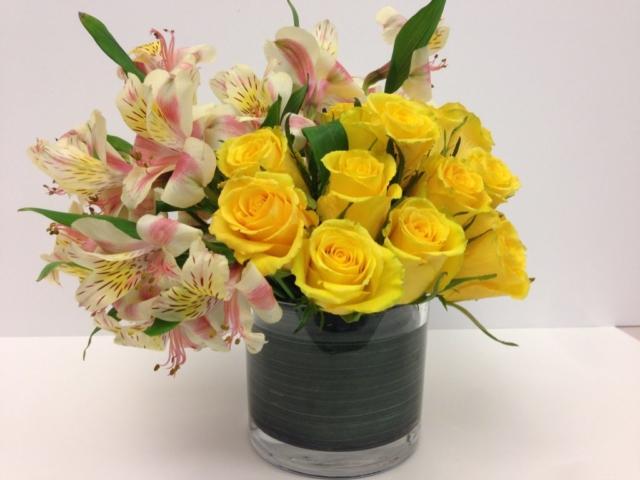 boss day flowers, yellow