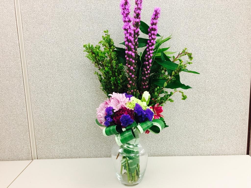 purple color flowers, bold flowers, modern