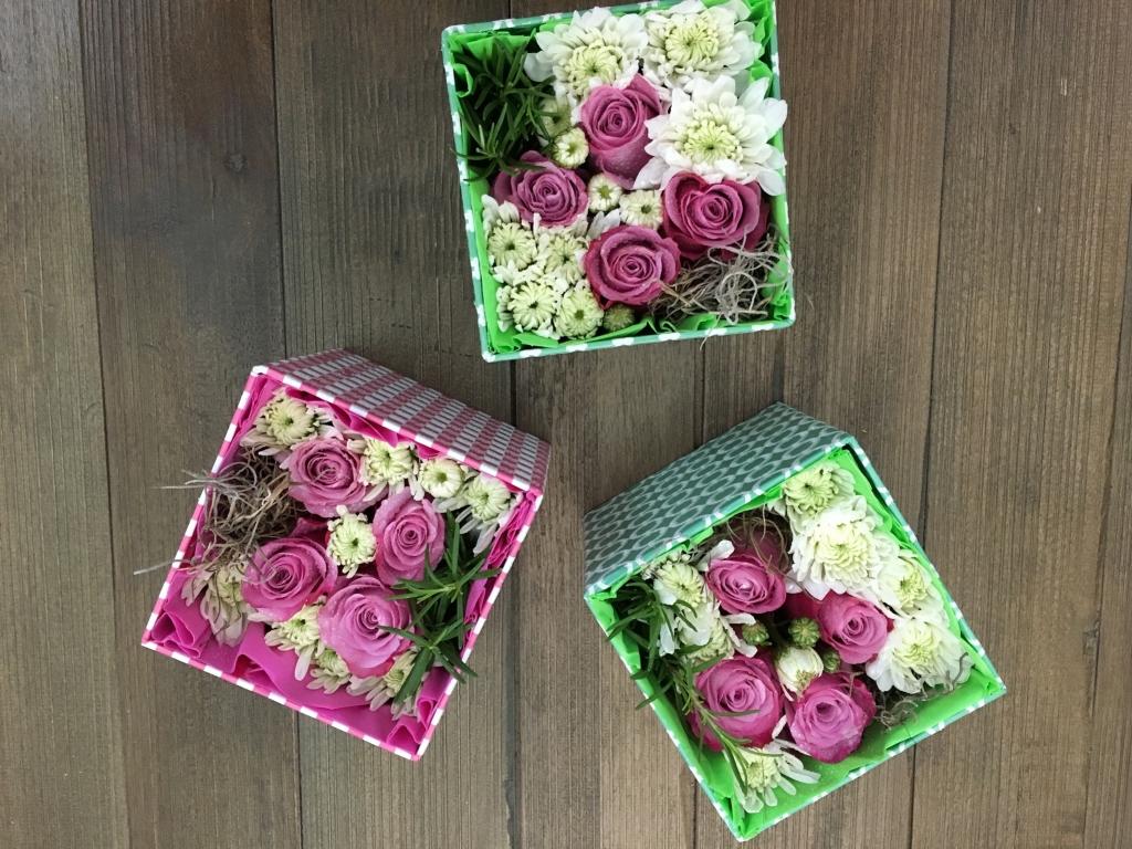 flowers in a box, roses, modern, herbs, mums, teacher appreciation