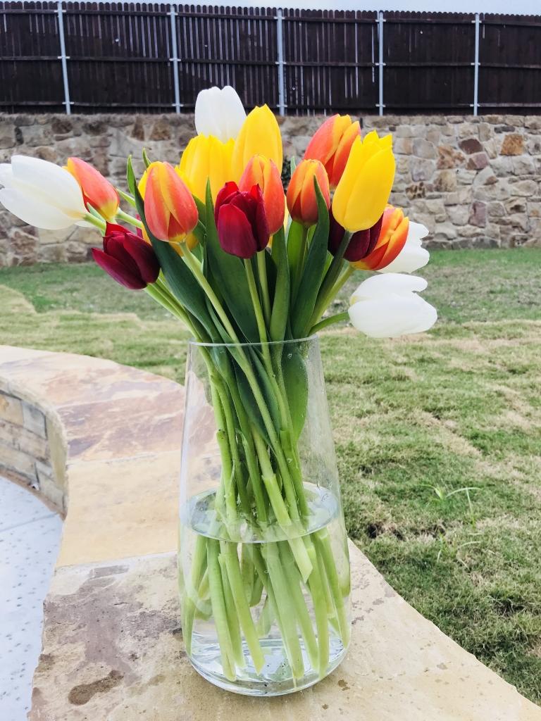 Easter Tulips flower arrangement