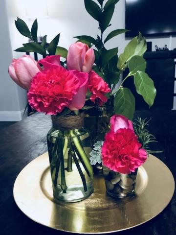 Left over flowers arrangements