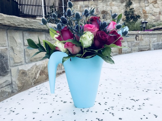 Roses, thistle, Watering Can