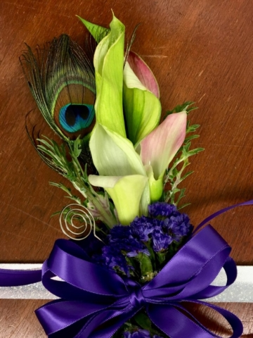 Calla Lilies, corsages, prom, homecoming