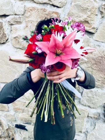 flower bouquet, hand-tied bouquet, modern