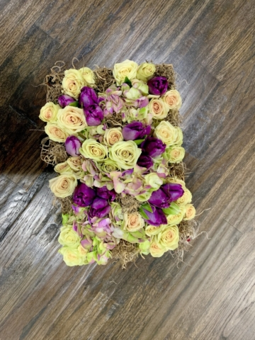 Elegant and Chic, flowers in a box