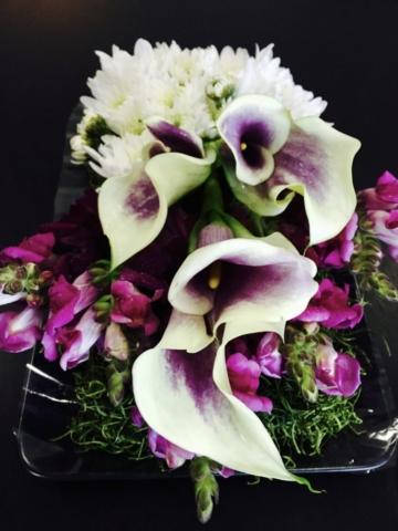 calla lily, snap dragon, contemporary flower design, unique flower design